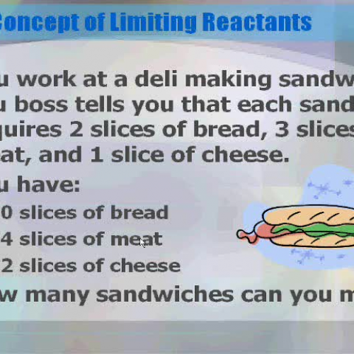 Introduction to Limiting Reactants