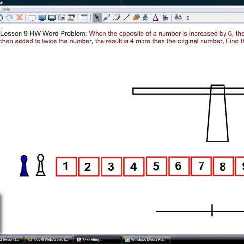 HOE Lesson 9 HW word problem