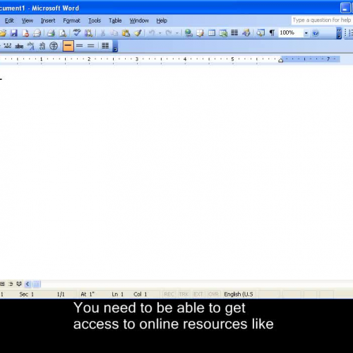 How to Logon to Online Resources