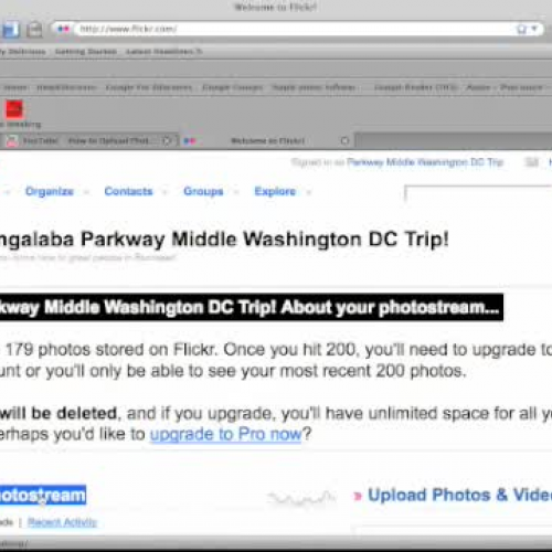 Sharing Flickr images with Washington DC trip