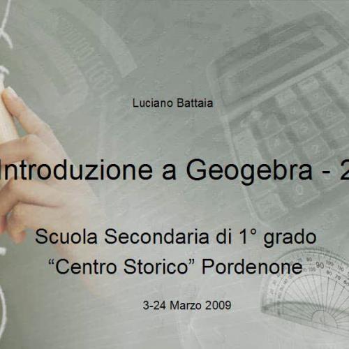 Introduzione a Geogebra - 2