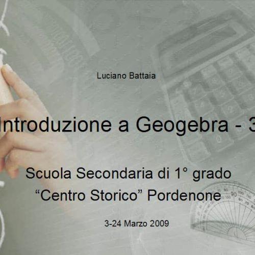 Introduzione a Geogebra - 3