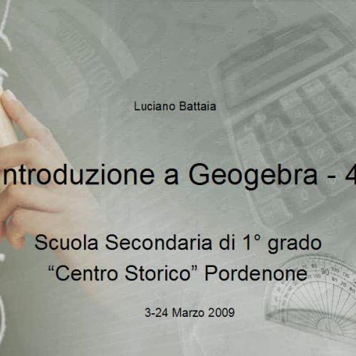 Introduzione a Geogebra - 4