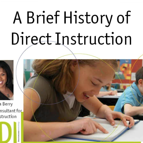 History of Direct Instruction Intervention Te