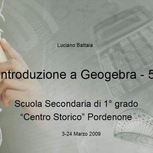 Introduzione a Geogebra - 5