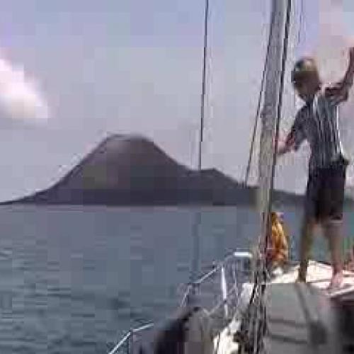 Krakatau Erupts up Close!!!!
