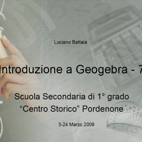 Introduzione a Geogebra -7