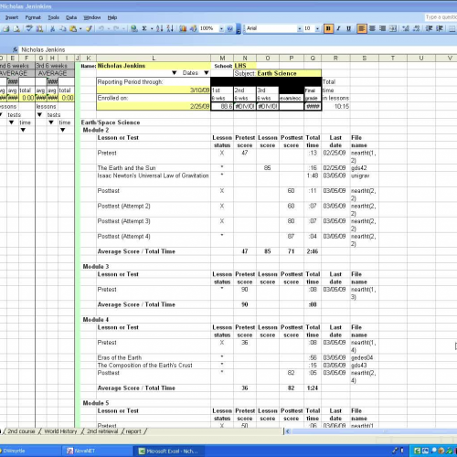 copying from NovaNet Reports and pasting to a