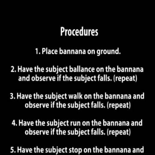 Banana Peel Slips