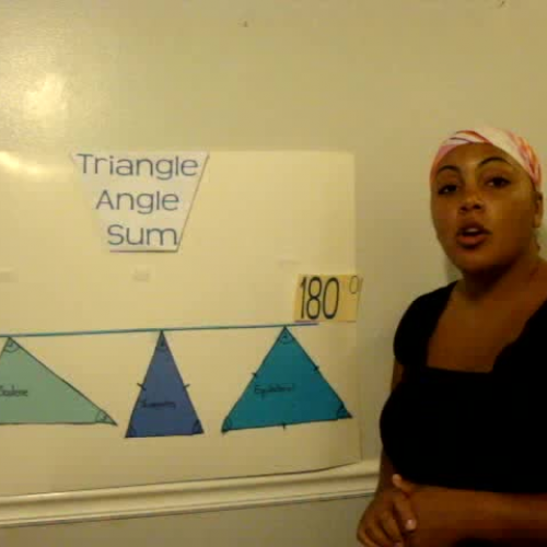 Angle sum in a triangle