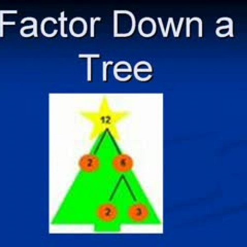Math Rocks! Factor Down A Tree