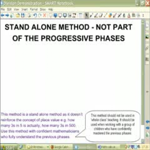 Division Stand Alone Method