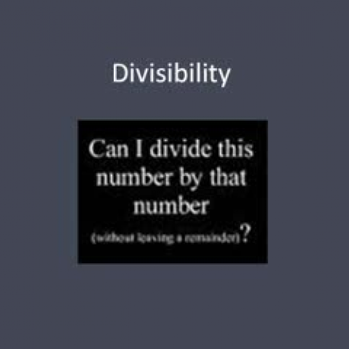 Rules for Divisibility