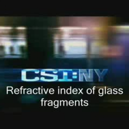 Refractive index of glass