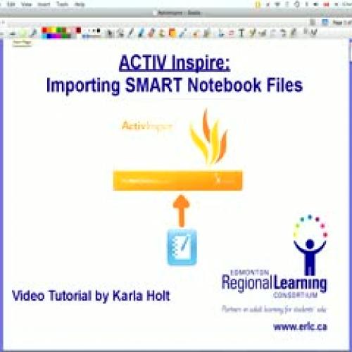 Importing Smart Notebook Files in ActivInspir