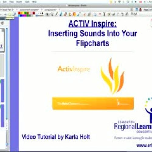 Inserting Sounds in ActivInspire