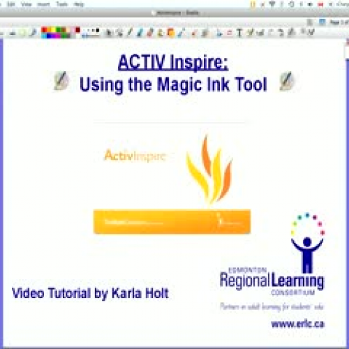 Using the Magic Ink Tool in ActivInspire