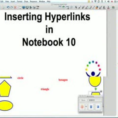 Inserting Links in Notebook 10