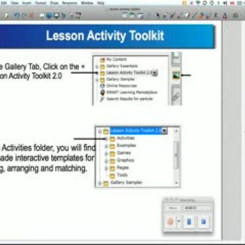 The Lesson Activity Toolkit in SMART Notebook