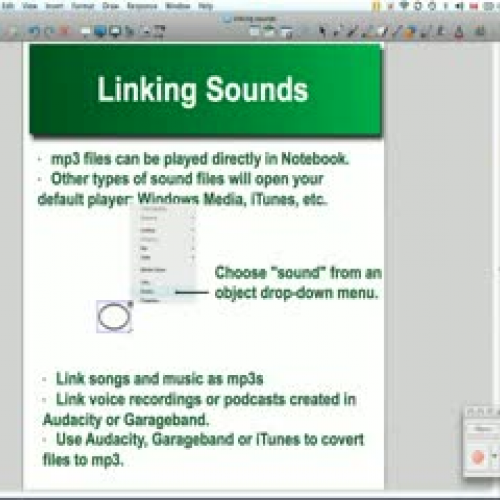 Linking Sounds in SMART Notebook 10