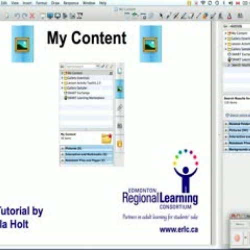 Using the My Content Folder in SMART Notebook