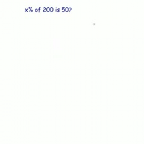Finding Unknown Percent of a Number Part 2