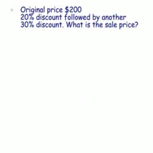 Multiple Discounts