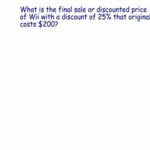 Calculating Discounts