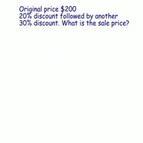 Multiple Discounts Part 2
