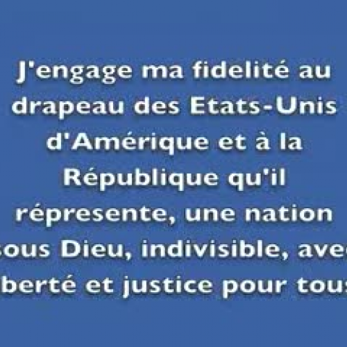 The Pledge of Allegiance in French