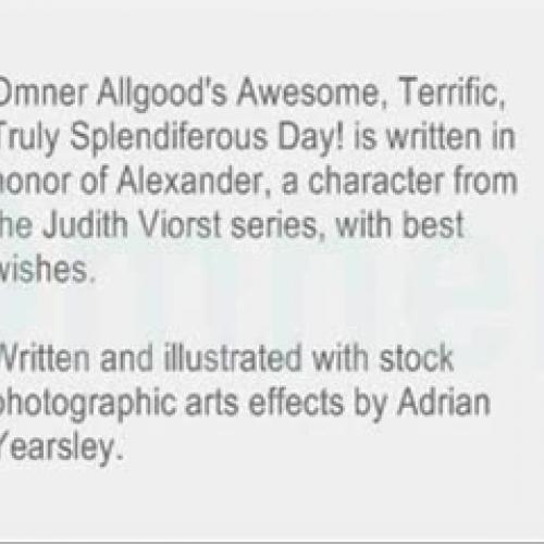 Omner Allgood's Awesome Terrific, Truly Splen