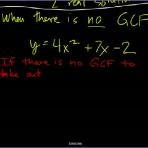 Factoring Quadratics by Grouping