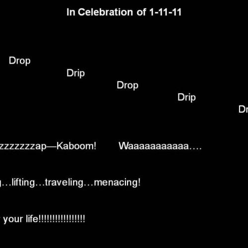 In Celebration of 1-11-11 (Part 1)