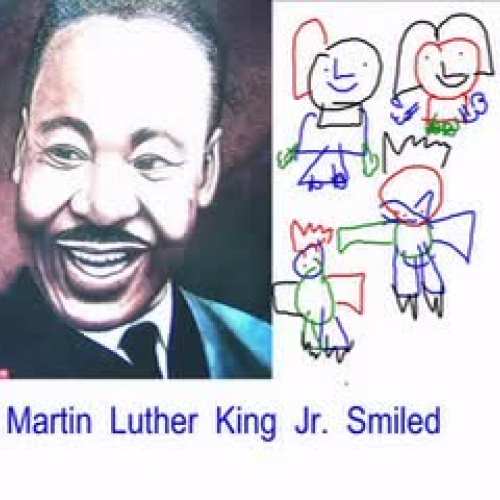 Martin Luther King Jr. Smiled