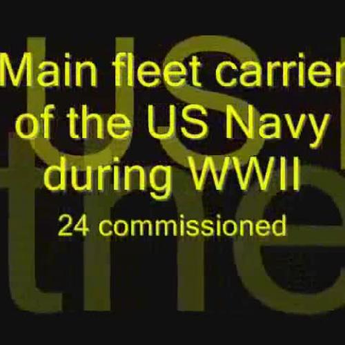 Top 10 Fighting Ships  USS Essex Class Aircra
