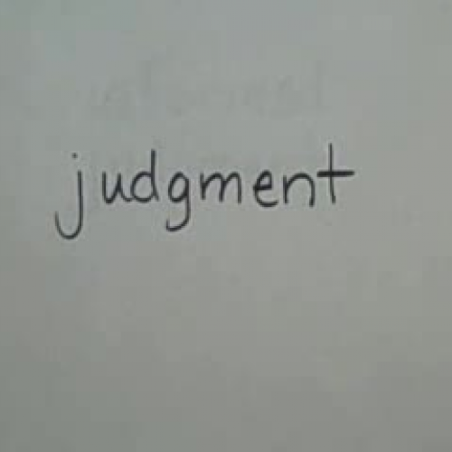 Making informed judgments
