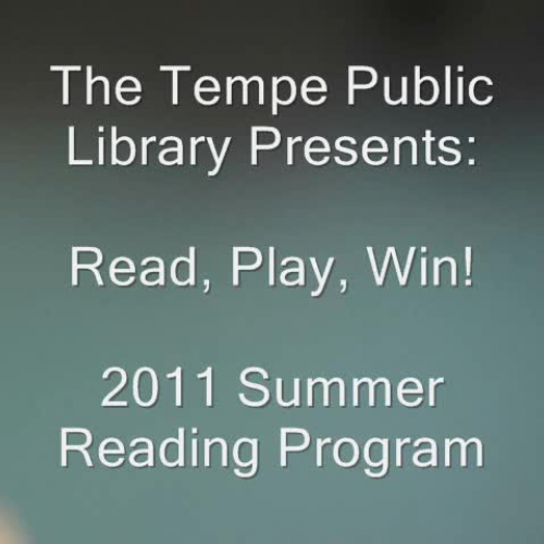 Tempe Public Library Summer Reading 2011