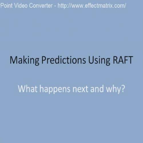 Making Predictions Using RAFT