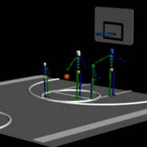 Basketball Game by Linae Myhand