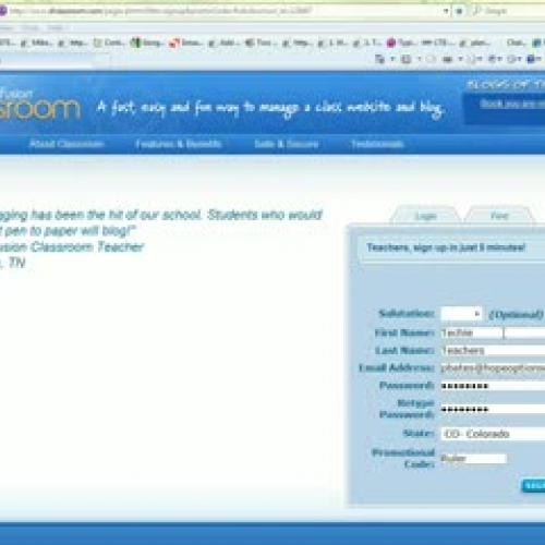 Create SchoolFusion Web Site
