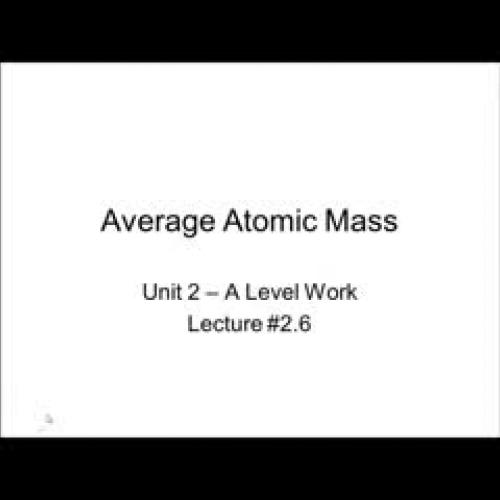 2.6 Average Atomic Mass