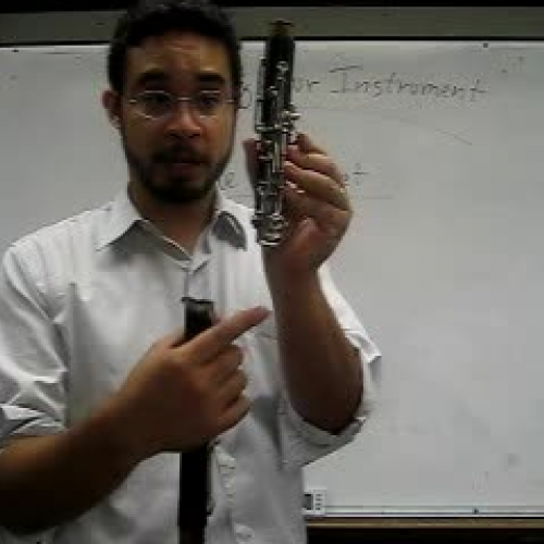 Holding the Clarinet