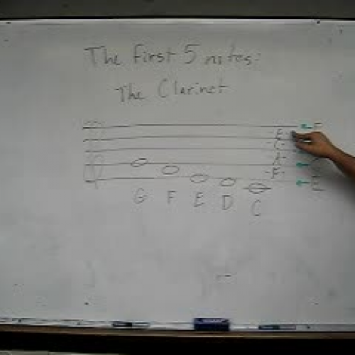 Clarinet First Five Notes