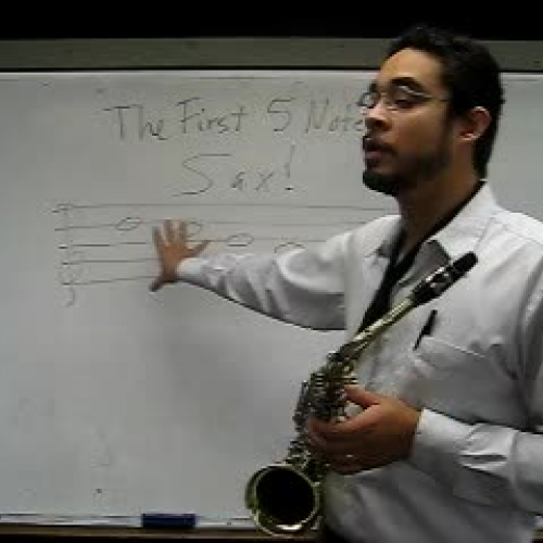 Saxophone First Five Notes