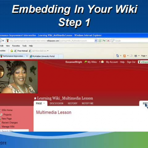Embedding into Wiki