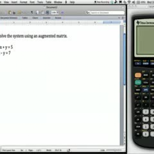 Solve Linear Equations with an Augmented Matr