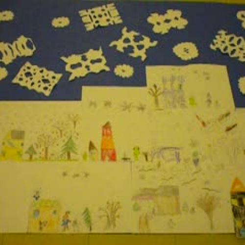 Winter Mural for Nursing Home
