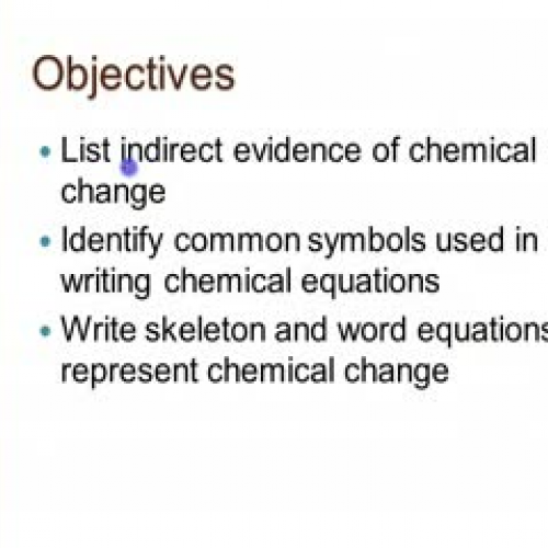 Introducing Chemical Equations