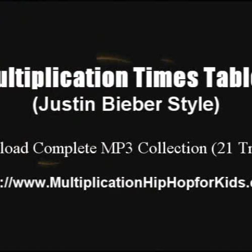 Multiplication Times Table Justin Bieber Styl
