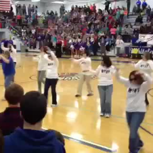 WCHS Teachers flash mob dance 1.20.12